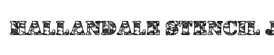 Hallandale Stencil Bold JL