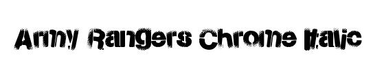 Army Rangers Laser Italic