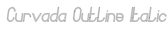 Quartermain Outline Italic