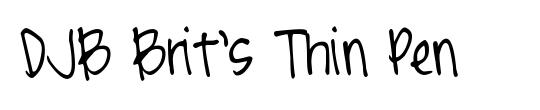 Script Thin pen