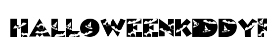 HalloweenKiddyFont