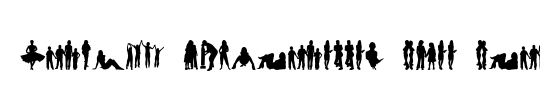 Human Silhouettes Free Five