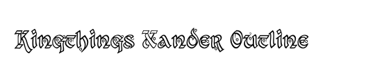 Kingthings Xander Outline