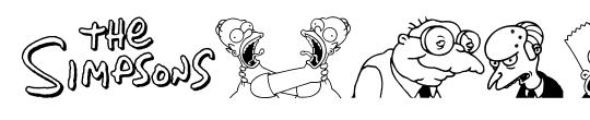Simpsons Mmmm...Font