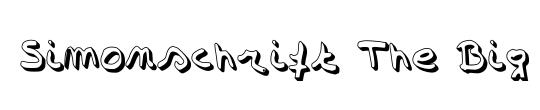 Simonschrift The Big Schaduw
