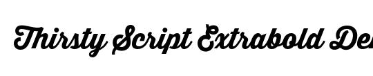 Thirsty Script Extrabold Demo