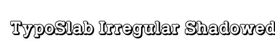 TypoSlab Irregular Demo