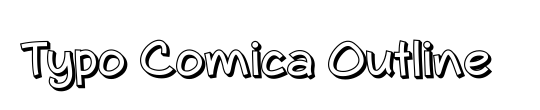 Typo Comica Outline