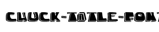chuck-title-font
