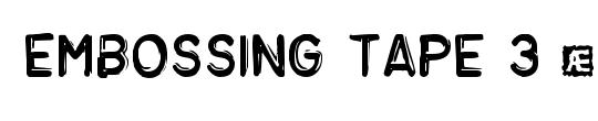 Embossing Tape 3 (BRK)
