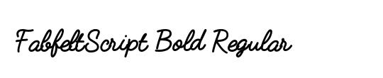 FabfeltScript Bold