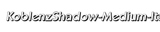 KoblenzShadow-Medium