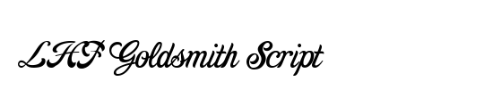 LHF Goldsmith Script
