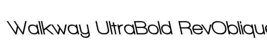 Walkway UltraBold RevOblique
