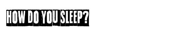 Sleep on the moon
