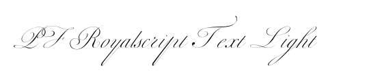 PF Royalscript Text Light
