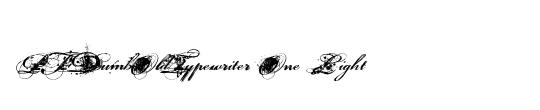PFDumbOldTypewriter One Bold