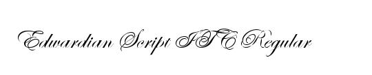 Edwardian Script ITC
