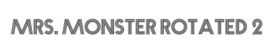Mrs. Monster Expanded Italic