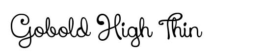 Gobold Thin Italic