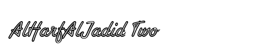 AlHarfAlJadid Two Latin Figures