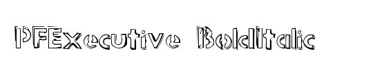 PFExecutive Italic