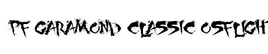 PF Garamond Classic