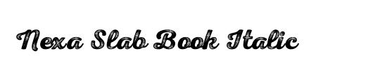 Nexa Slab Book Italic