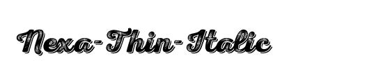 Nexa-Thin-Italic
