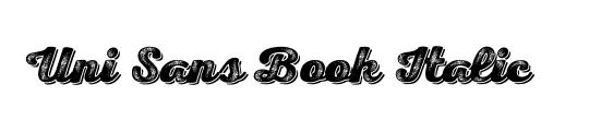 Uni Sans Book Italic