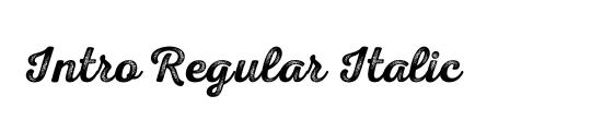 Intro Regular Italic