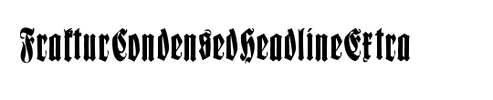 FrakturCondensedHeadlineExtra