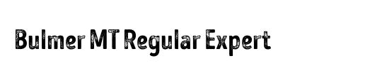 Bulmer MT SemiBold Expert