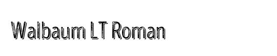 Walbaum LT Roman