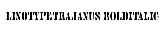 LinotypeTrajanus