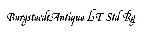 BurgstaedtAntiqua LT Std Rg