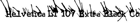 HelveticaNeue LT 107 XBlkCn