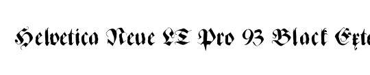 Helvetica Neue LT Pro