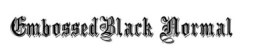 EmbossedBlack